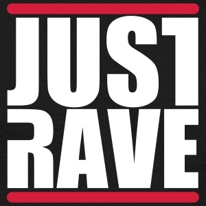 Just Rave Logo - Techno Festivals After Hour PLUR T-Shirts - Männer T-Shirt