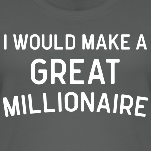A Great Millionaire Funny Quote Tops - Women's Organic Tank Top