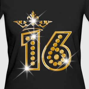16 - Birthday - Queen - Gold - Burlesque T-Shirts - Frauen Bio-T-Shirt