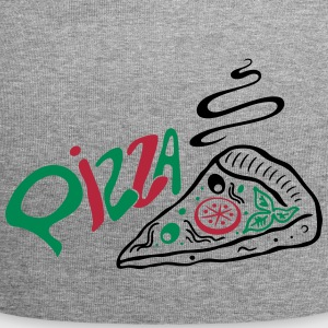 Big slice of Pizza with lettering, Italian food. - Jersey Beanie