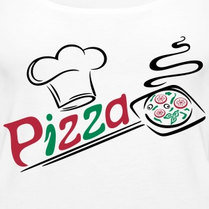 Pizza baker with cooking cap, Italian food. - Women's Premium Tank Top