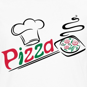 Pizza baker with cooking cap, Italian food. - Men's Premium Longsleeve Shirt