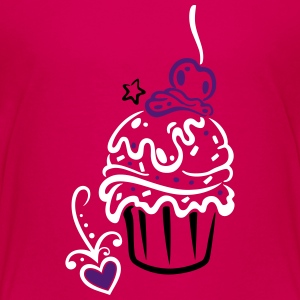 Cupcake, Muffin with sweets - Teenage Premium T-Shirt