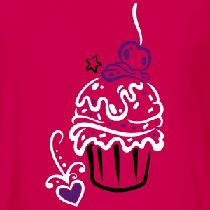 Cupcake, Muffin with sweets - Teenagers' Premium Longsleeve Shirt
