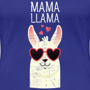 Mama Llama | Cute Mom Gift Design T-shirts - Vrouwen Premium T-shirt