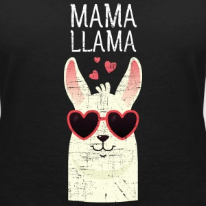 Mama Llama | Cute Mom Gift Design T-Shirts - Women's V-Neck T-Shirt