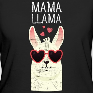 Mama Llama | Cute Mom Gift Design T-Shirts - Frauen Bio-T-Shirt