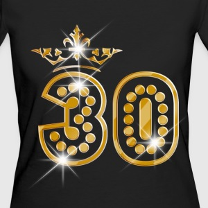 30 - Birthday - Queen - Gold - Burlesque T-Shirts - Frauen Bio-T-Shirt