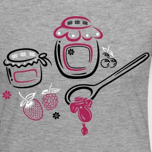 Large jars with jam and fruits. Summer time. - Women's Premium Longsleeve Shirt