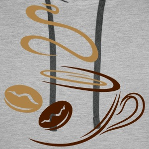 Large coffee cup with coffee beans. - Men's Premium Hoodie