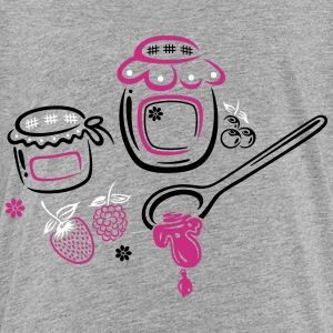Large jars with jam and fruits. Summer time. - Teenage Premium T-Shirt