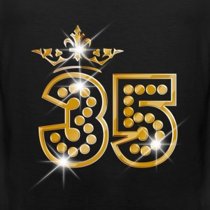 35 - Birthday - Queen - Gold - Burlesque Vêtements de sport - Débardeur Premium Homme