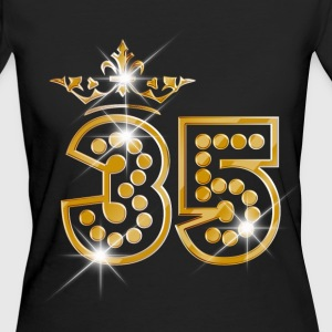 35 - Birthday - Queen - Gold - Burlesque Tee shirts - T-shirt Bio Femme