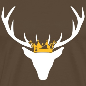 Stag with crown T-Shirts - Men's Premium T-Shirt