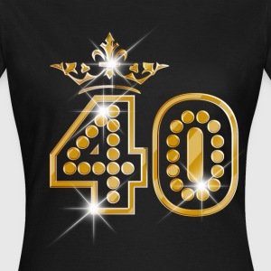 40 - Birthday - Queen - Gold - Burlesque T-shirts - Vrouwen T-shirt