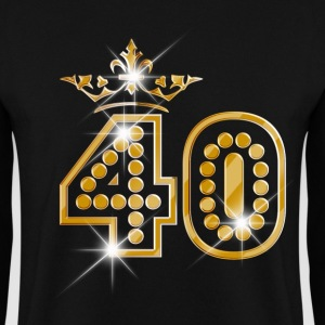 40 - Birthday - Queen - Gold - Burlesque Hoodies & Sweatshirts - Men's Sweatshirt