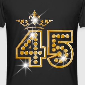 45 - Birthday - Queen - Gold - Burlesque Camisetas - Camiseta urbana para hombre