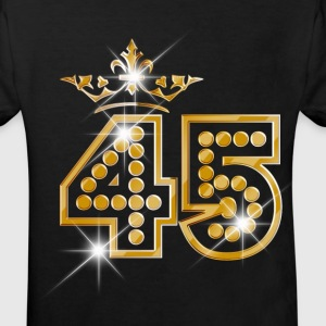 45 - Birthday - Queen - Gold - Burlesque Shirts - Kids' Organic T-shirt