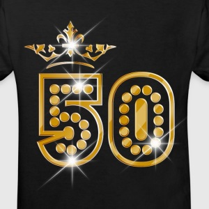 50 - Birthday - Queen - Gold - Burlesque Camisetas - Camiseta ecológica niño