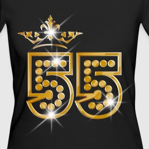 55 - Birthday - Queen - Gold - Burlesque T-shirts - Vrouwen Bio-T-shirt