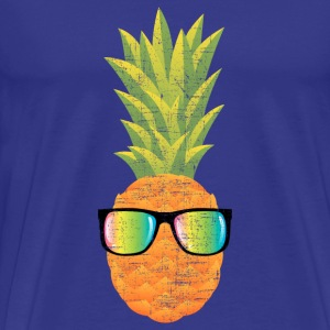 Pineapple With Rainbow Sunglasses | Cool 80s Style T-Shirts - Men's Premium T-Shirt