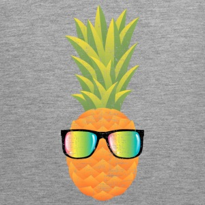 Pineapple With Rainbow Sunglasses | Cool 80s Style Sports wear - Men's Premium Tank Top