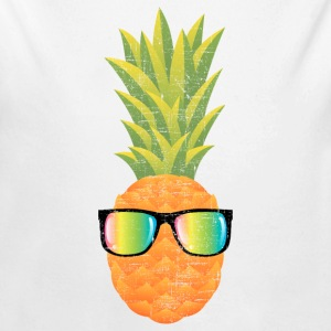 Pineapple With Rainbow Sunglasses | Cool 80s Style Baby body - Baby bio-rompertje met lange mouwen