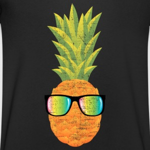 Pineapple With Rainbow Sunglasses | Cool 80s Style T-Shirts - Men's V-Neck T-Shirt