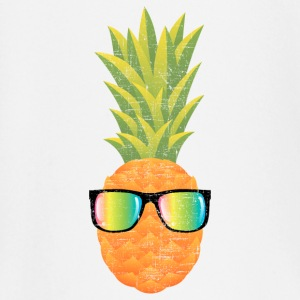 Pineapple With Rainbow Sunglasses | Cool 80s Style Långärmade T-shirts baby - Långärmad T-shirt baby