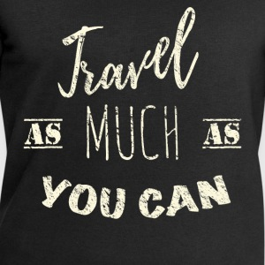 Travel as much as you can Vintage Sweat-shirts - Sweat-shirt Homme Stanley & Stella