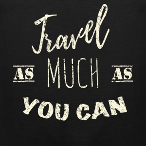Travel as much as you can Vintage Sportbekleidung - Männer Premium Tank Top