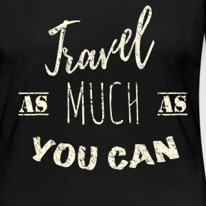 Travel as much as you can Vintage Manches longues - T-shirt manches longues Premium Femme