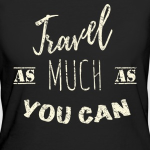 Travel as much as you can Vintage T-shirts - Vrouwen Bio-T-shirt