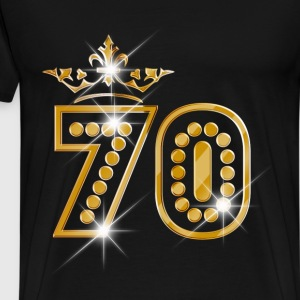 70 - Birthday - Queen - Gold - Burlesque Camisetas - Camiseta premium hombre