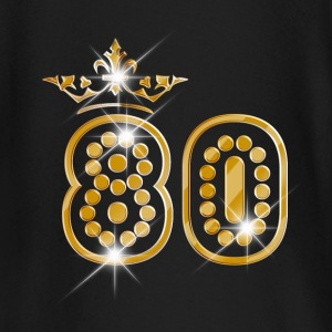 80 - Birthday - Queen - Gold - Burlesque Baby Long Sleeve Shirts - Baby Long Sleeve T-Shirt