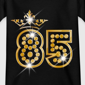 85 - Birthday - Queen - Gold - Burlesque Camisetas - Camiseta adolescente