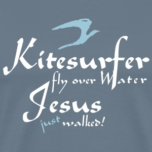 Jesus just walked - Männer Premium T-Shirt