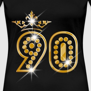 90 - Birthday - Queen - Gold - Burlesque T-Shirts - Frauen Premium T-Shirt