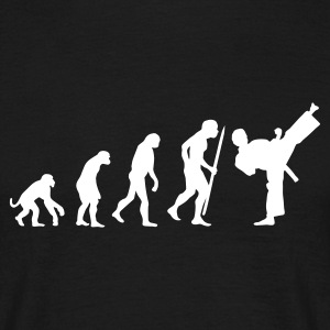 Zwart Evolution of martial art T-shirts - Mannen T-shirt