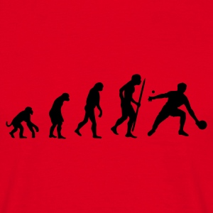 Rood Evolution of ping pong T-shirts - Mannen T-shirt