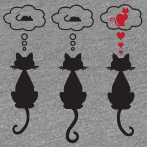 cat in love - Frauen Premium T-Shirt