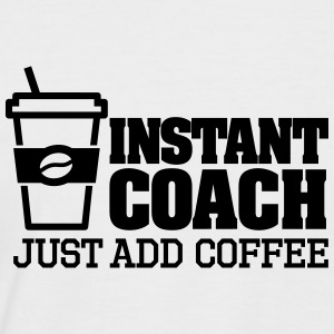 Instant coach just add coffee T-shirts - Mannen baseballshirt korte mouw