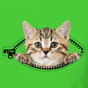 cat zipper pocket T-Shirts - Frauen Bio-T-Shirt