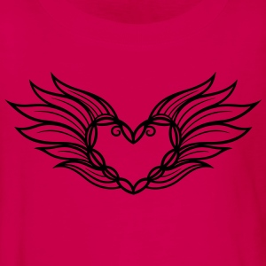 Large heart with wings and feathers, filigree. - Teenagers' Premium Longsleeve Shirt