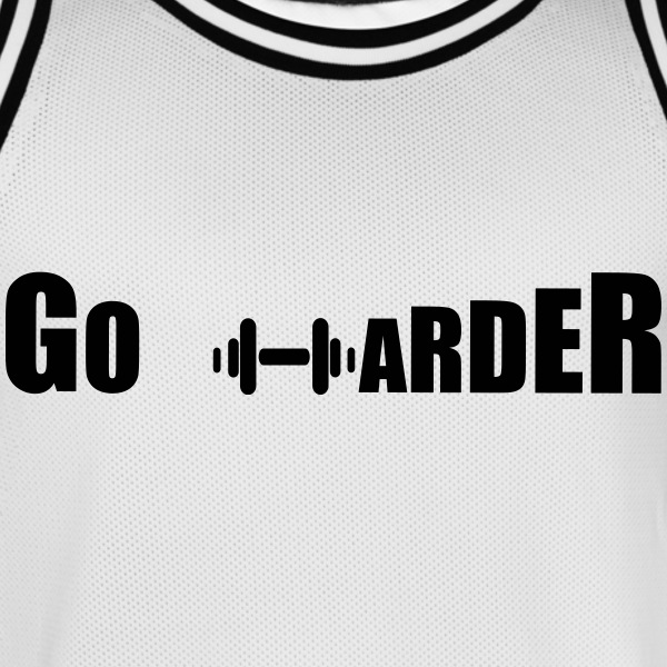 GO_HARDER_ no pain no gain Sportbekleidung - Männer Basketball-Trikot
