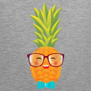 Hipster Geek Pineapple With Glasses & Bow Tie Sports wear - Men's Premium Tank Top