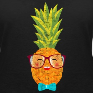 Hipster Geek Pineapple With Glasses & Bow Tie Tee shirts - T-shirt col V Femme