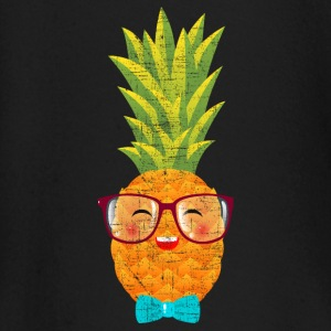 Hipster Geek Pineapple With Glasses & Bow Tie Koszulki z długimi rękawami dla niemowląt - Koszulka niemowlęca z długim rękawem
