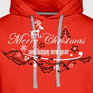 Merry Christmas with reindeer - Men's Premium Hoodie