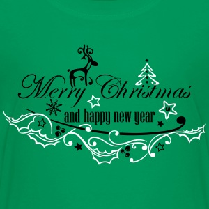 Merry Christmas with reindeer - Teenage Premium T-Shirt